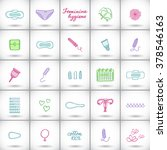 feminine hygiene products set.... | Shutterstock .eps vector #378546163