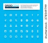 droid icons. set of 35 flat... | Shutterstock .eps vector #378549799