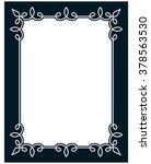 border frame line deco vector... | Shutterstock .eps vector #378563530