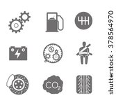 auto solid grey icons on white...   Shutterstock .eps vector #378564970