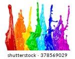 Abstract Color Splash Rainbow...