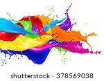 Abstract Color Splash Isolated...