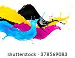 Abstract Cymk Color Splash...