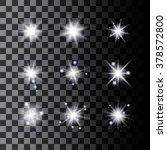 set of sparkle stars. shine... | Shutterstock .eps vector #378572800
