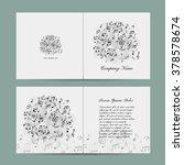 greeting card design  music... | Shutterstock .eps vector #378578674