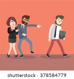 businessman bullying his friend | Shutterstock .eps vector #378584779