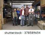 workers in warehouse | Shutterstock . vector #378589654