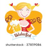 octoberfest  bavarian woman ....