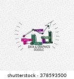 vector multicolored hand drawn... | Shutterstock .eps vector #378593500