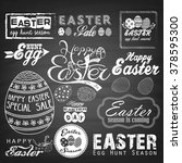easter typographical background.... | Shutterstock .eps vector #378595300