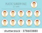 11 icons of plastic surgery... | Shutterstock .eps vector #378603880