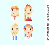 people faces vector flat icon... | Shutterstock .eps vector #378606196
