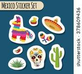 Mexico Bright Sticker Set With...