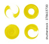 set of yellow round element for ... | Shutterstock .eps vector #378615730
