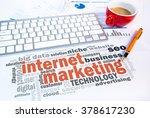 internet marketing word cloud... | Shutterstock . vector #378617230