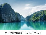 beautiful view of lagoon in the ... | Shutterstock . vector #378619378