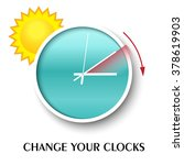 change your clocks message for... | Shutterstock .eps vector #378619903