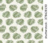 green palm leaves. seamless... | Shutterstock .eps vector #378628150
