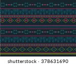 neck line ethnic embroidery... | Shutterstock .eps vector #378631690
