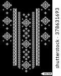 neck line ethnic embroidery... | Shutterstock .eps vector #378631693