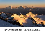 Small photo of View of Andes range from Mt.Aconcagua at sunrise, Argentina