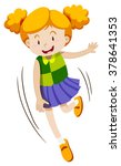 little girl with happy face... | Shutterstock .eps vector #378641353