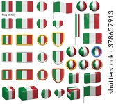 3d shapes containing the flag... | Shutterstock . vector #378657913
