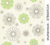 seamless flower pattern ... | Shutterstock .eps vector #378664114