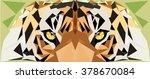 tiger head. polygonal animal...   Shutterstock .eps vector #378670084