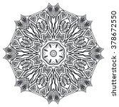 mandala round ornament... | Shutterstock .eps vector #378672550