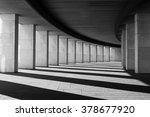 long tunnel with columns in... | Shutterstock . vector #378677920