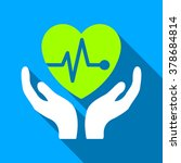 cardiology care hands long... | Shutterstock .eps vector #378684814
