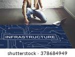 infrastructure technology... | Shutterstock . vector #378684949