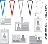 vector employee cards... | Shutterstock . vector #378695890