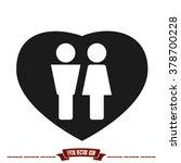 woman man heart | Shutterstock .eps vector #378700228