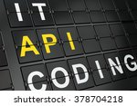 programming concept  api on... | Shutterstock . vector #378704218