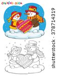 coloring book or page. two cute ...   Shutterstock .eps vector #378714319