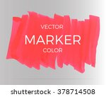 vector red stripes drawn with... | Shutterstock .eps vector #378714508