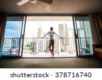 men look out through the window ... | Shutterstock . vector #378716740
