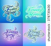 forever typography design | Shutterstock .eps vector #378730630