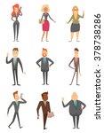 vector cartoon image of a set... | Shutterstock .eps vector #378738286