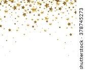 golden falling stars  on a... | Shutterstock .eps vector #378745273