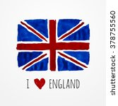 hand drawn watercolor england... | Shutterstock . vector #378755560