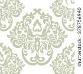 vintage damask royal ornament... | Shutterstock .eps vector #378756940
