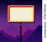 vintage signboard with lights.... | Shutterstock .eps vector #378758164