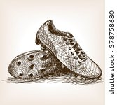 football boots sketch style... | Shutterstock .eps vector #378758680