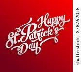 happy celtic irish st. patrick... | Shutterstock .eps vector #378762058