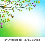 vector spring  background of... | Shutterstock .eps vector #378766486