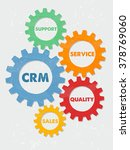 crm  support  service  quality  ... | Shutterstock .eps vector #378769060