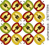 color apple pattern   Shutterstock .eps vector #378775594
